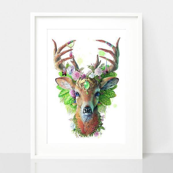 Deer Print - Spirit Animal Series | Trada Marketplace
