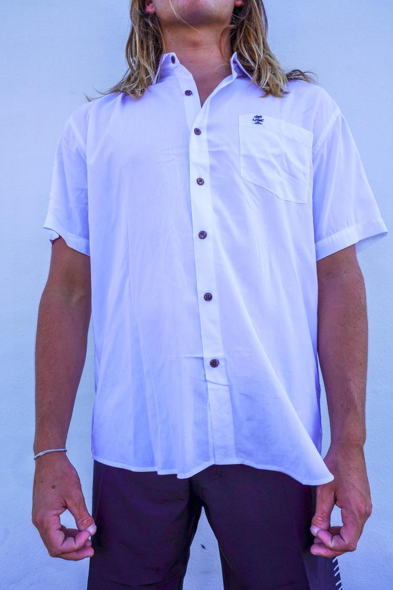 WHITE BUTTON UP SHIRT | Trada Marketplace