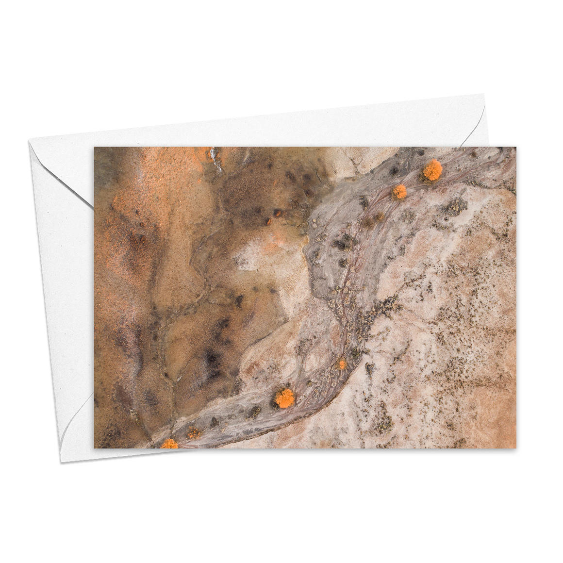 Sunrise in the Painted Desert Greeting Card   Trada Marketplace