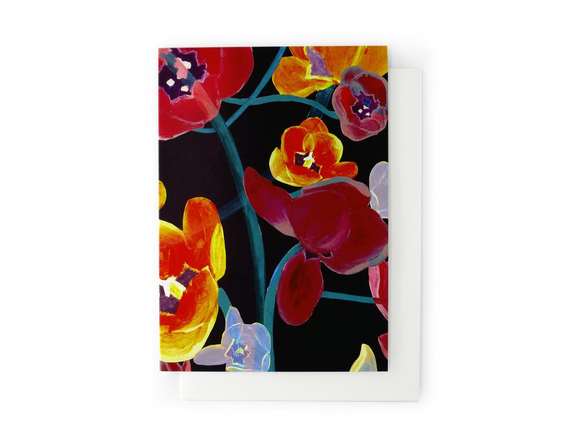 ATOMIC FLOWER Artisan Greeting Card | Trada Marketplace