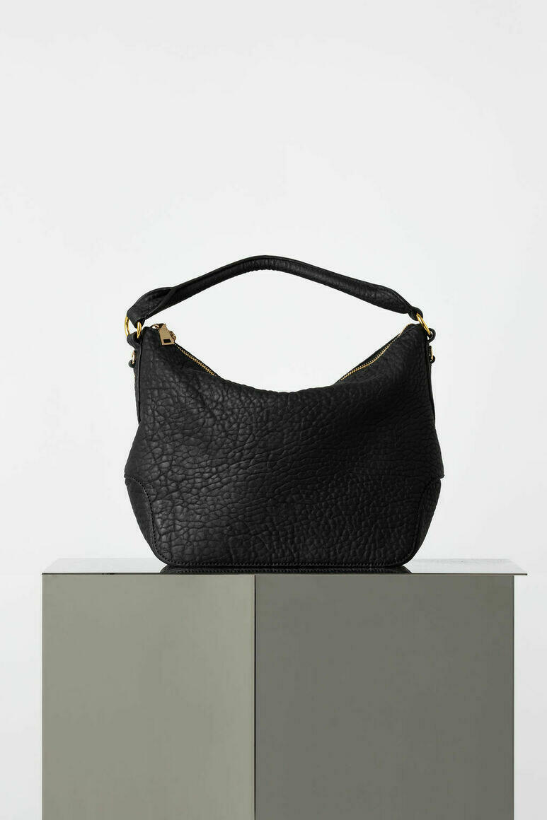 Dani Hobo Bag in Black Pebble   Trada Marketplace