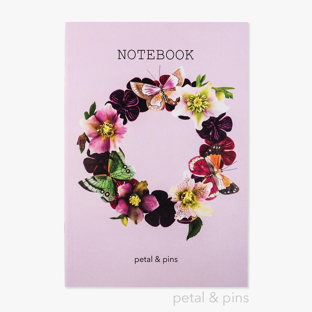 butterfly garland notebook - rosewater | Trada Marketplace
