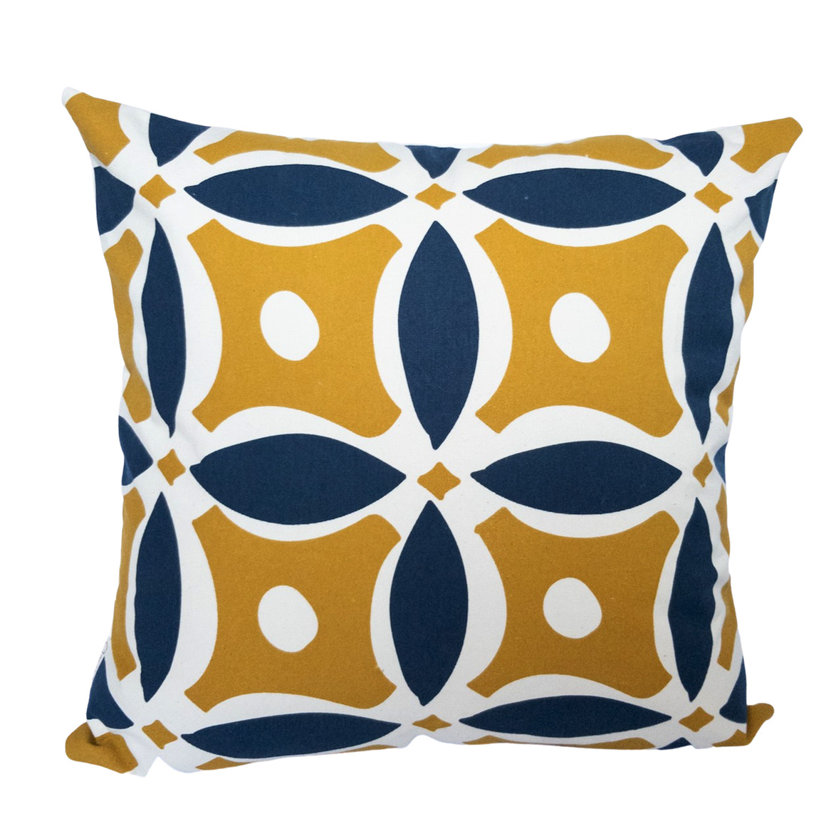 Vintage Inspired Geometric Hand Screen Printed 100% cotton cushion cover-3 Colourways | Trada Marketplace