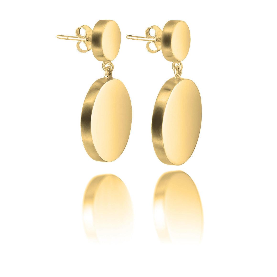 Double Disc Earrings | Trada Marketplace