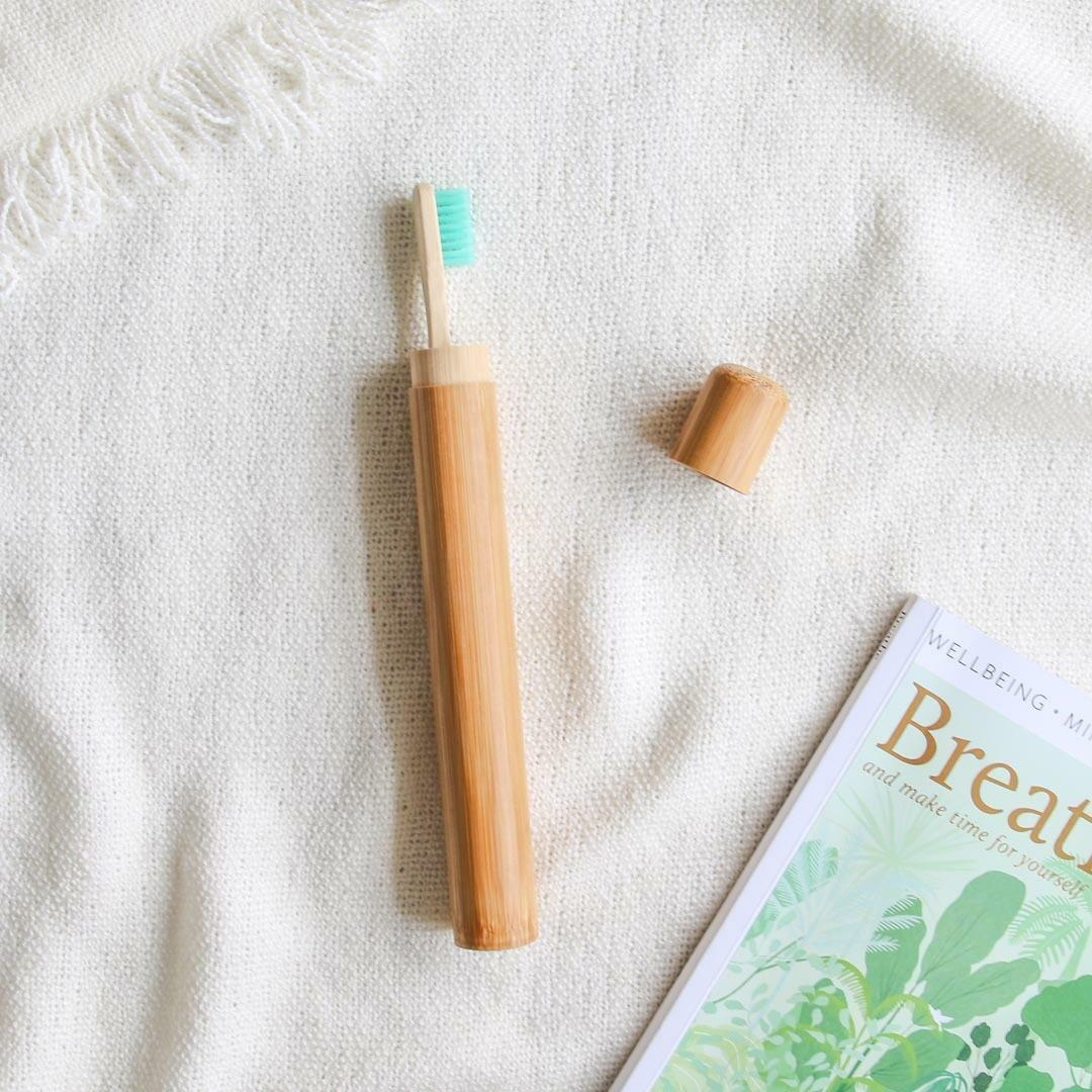 Bamboo Toothbrush Cover   Trada Marketplace