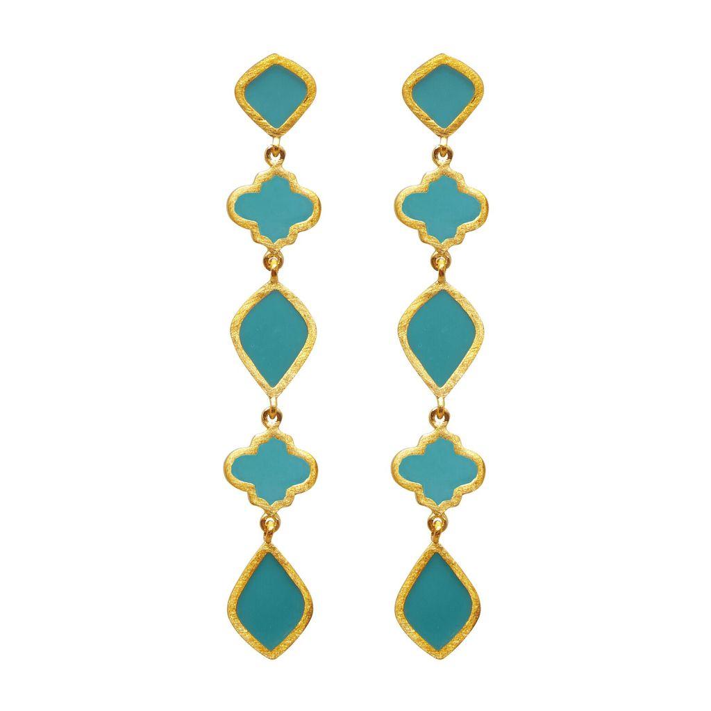 Chandra Drop Earring Turquoise   Trada Marketplace
