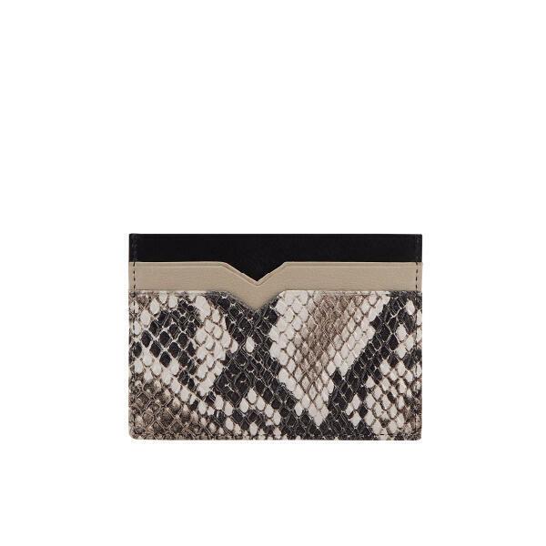 Alexis Card Holder   Black/Snake   Trada Marketplace