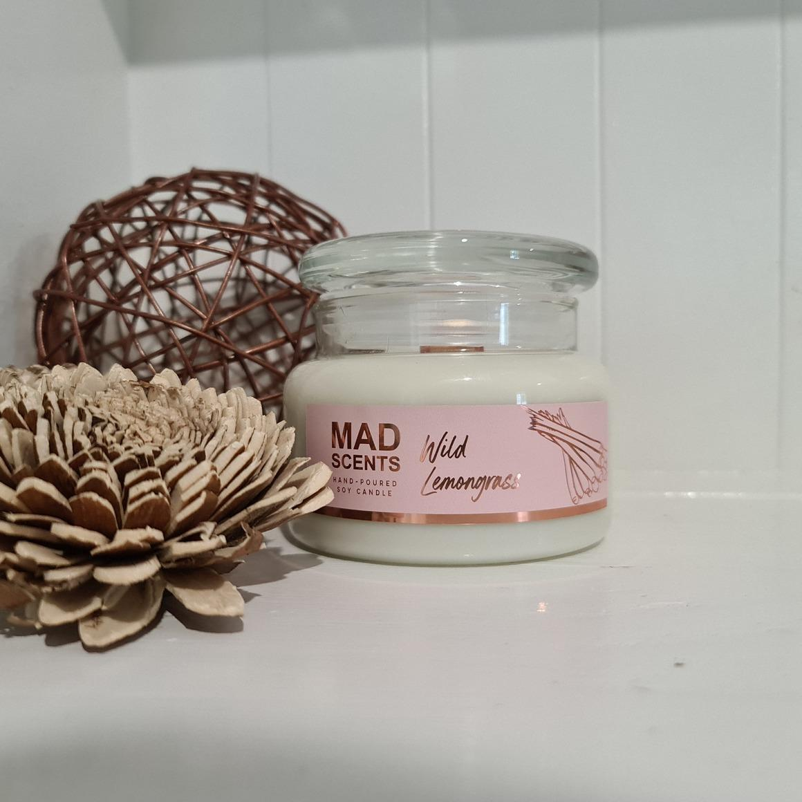 Wild lemongrass wood wick candle | Trada Marketplace