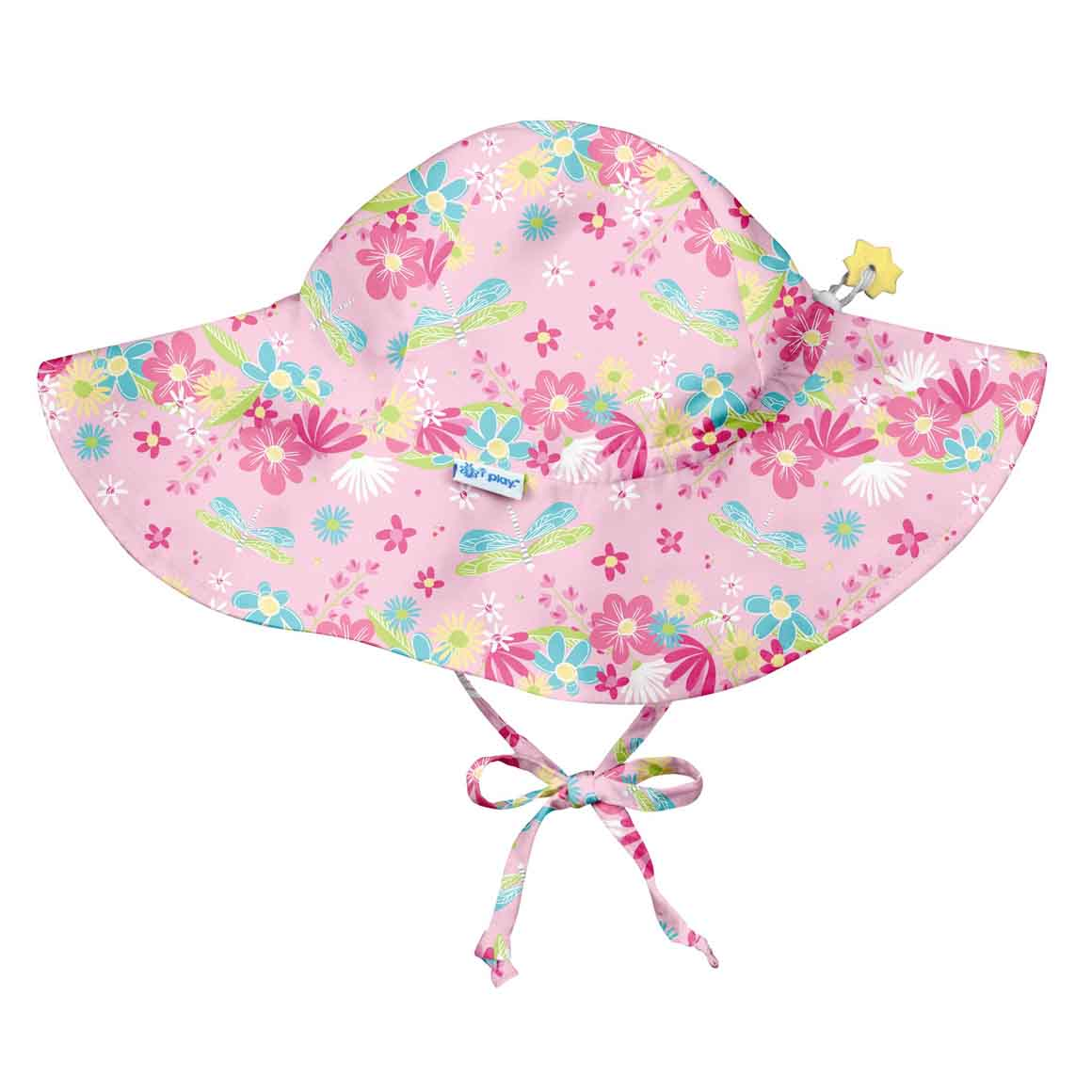Brim Sun Protection Hat-Light Pink Dragonfly Floral | Trada Marketplace