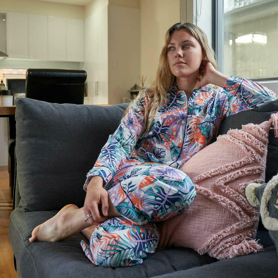 FLORAL PJ SET, Includes 4 sizes S,M,L,XL Personalized Pajamas, Bridal Party Pajamas, Bridesmaid PJs, Maid of Honor, Lounge wear, Sleepwear | Trada Marketplace