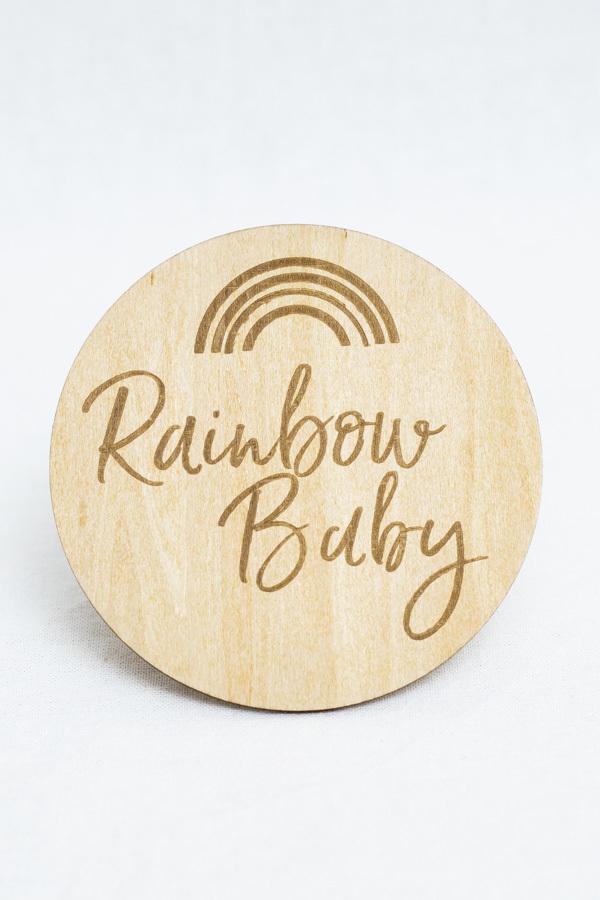 Rainbow Baby Milestone Disc   Trada Marketplace