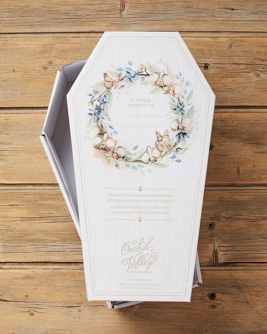 Cardboard pet casket Small   Trada Marketplace