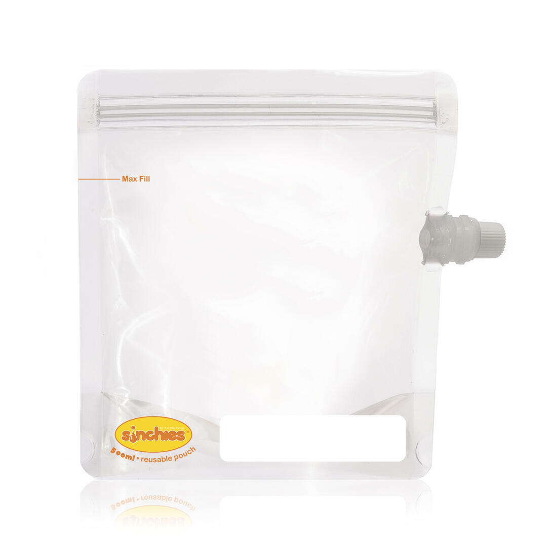500ml Reusable Food Pouch - Side Spout (5 pack) | Trada Marketplace