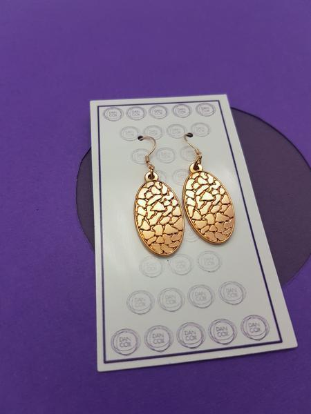 Octo Oval Rose Gold Plate Alloy Earrings Stainless Steel Hooks | Trada Marketplace