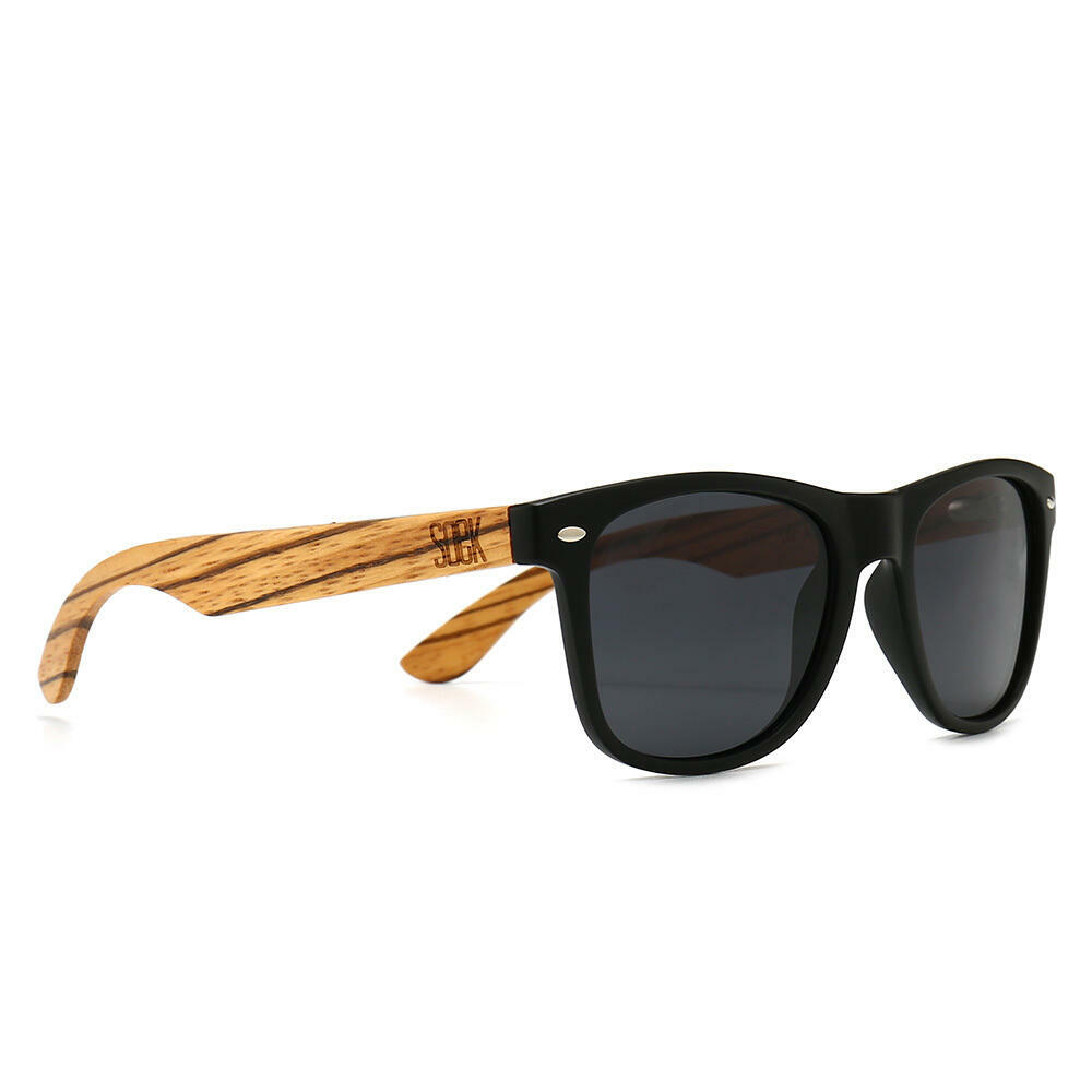 BALMORAL - Black Frame with Black Polarize Lens and Walnut Arms - Adult | Trada Marketplace