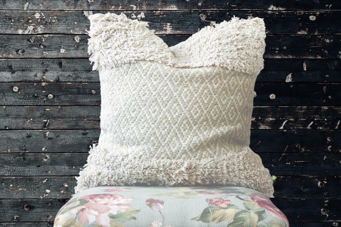 Leif BOHO Handmade Neutral Tufted Decorative Cushions Cover | Trada Marketplace