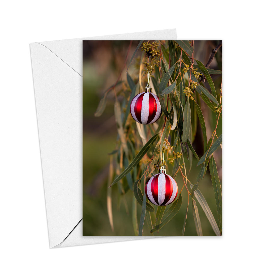 Christmas Baubles Greeting Card   Trada Marketplace
