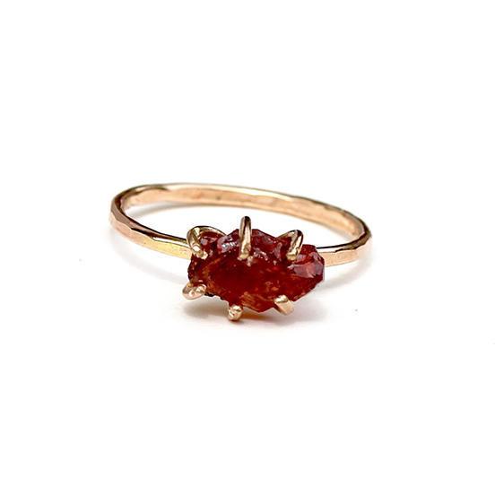 Garnet Ring Gold Filled | Trada Marketplace