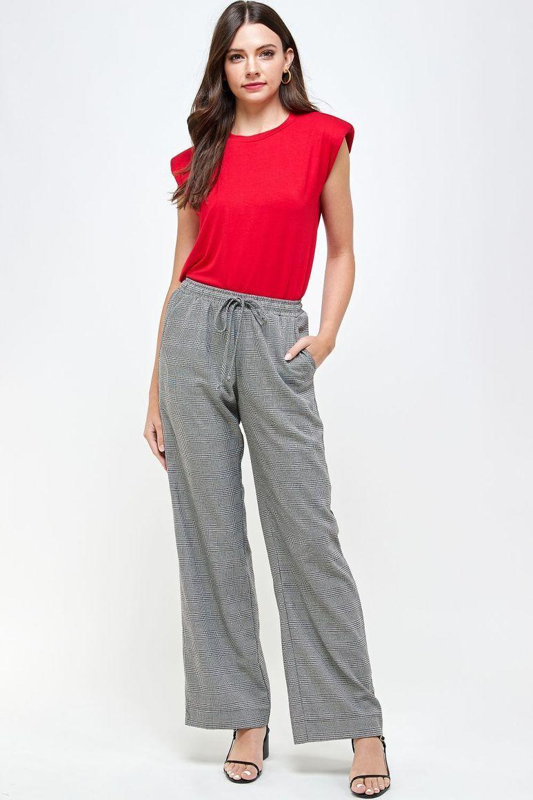 Joyous Shoulder Pad T-Shirt - Red | Trada Marketplace