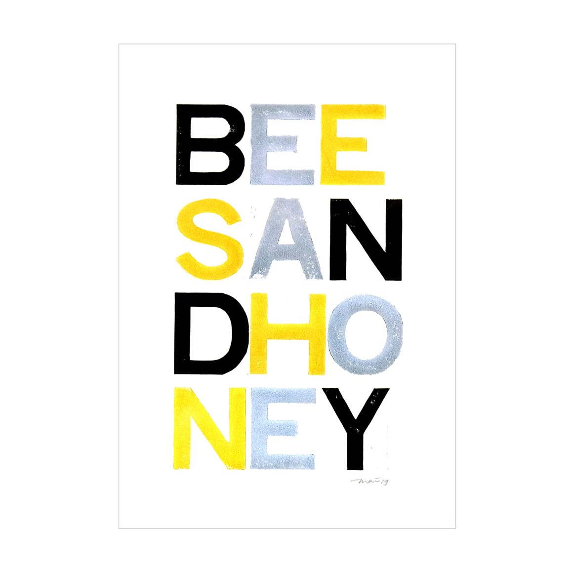 Bees and Honey Poster   Trada Marketplace