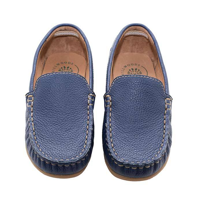 Navy Leather Loafer - Children | Trada Marketplace