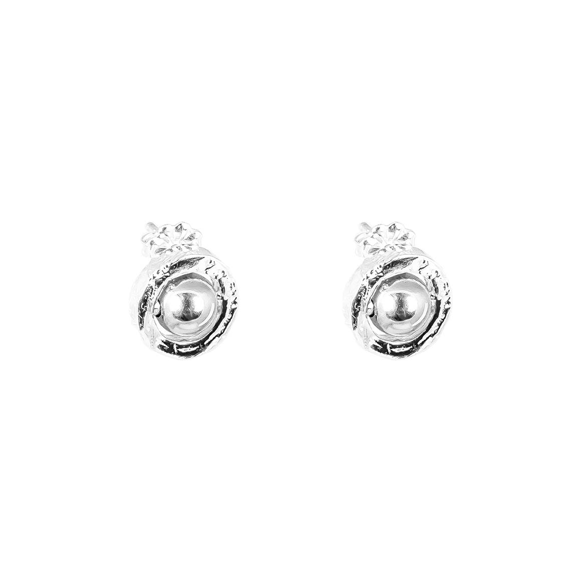 Atticus Fine Stud Earrings | Polished Silver Detail | Trada Marketplace
