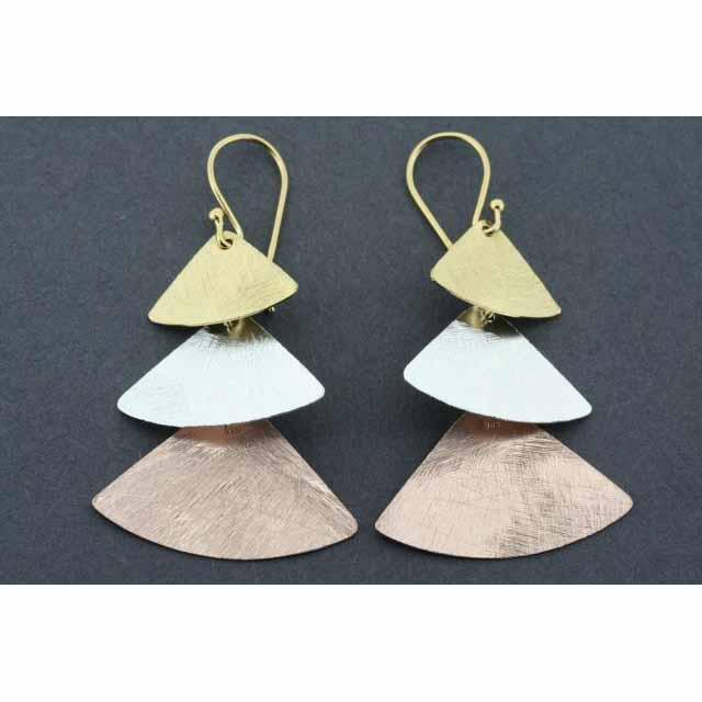 3 x samurai drop earring - rose gold & gold plated | Trada Marketplace