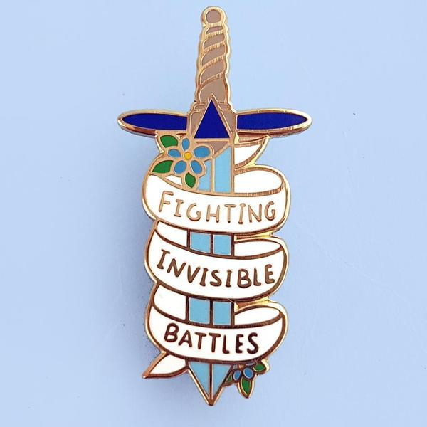 Fighting Invisible Battles Lapel Pin   Trada Marketplace