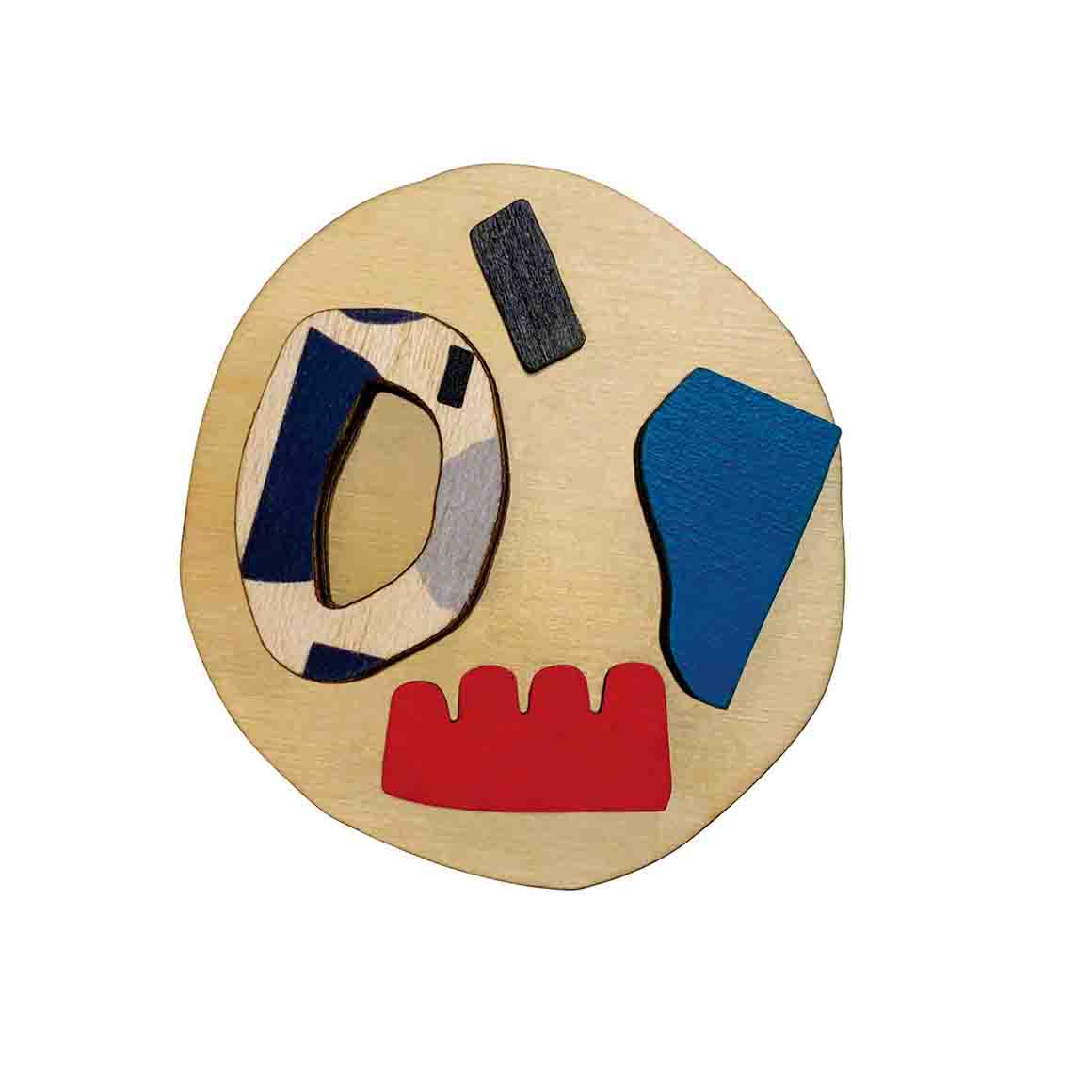 Abstract brooch with shapes   Trada Marketplace