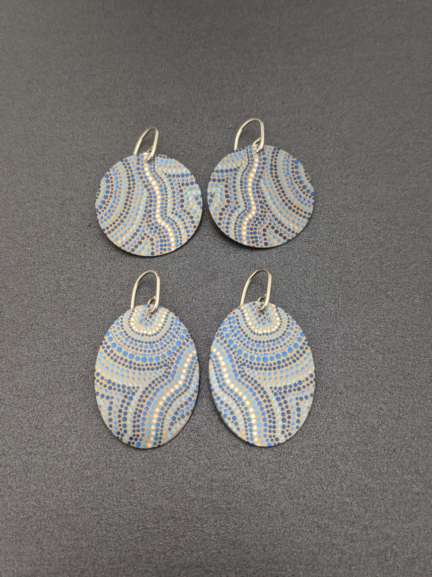 A SOURCE OF LIFE – round/oval earrings   Trada Marketplace