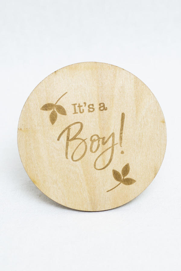 It's a Boy Milestone Disc   Trada Marketplace
