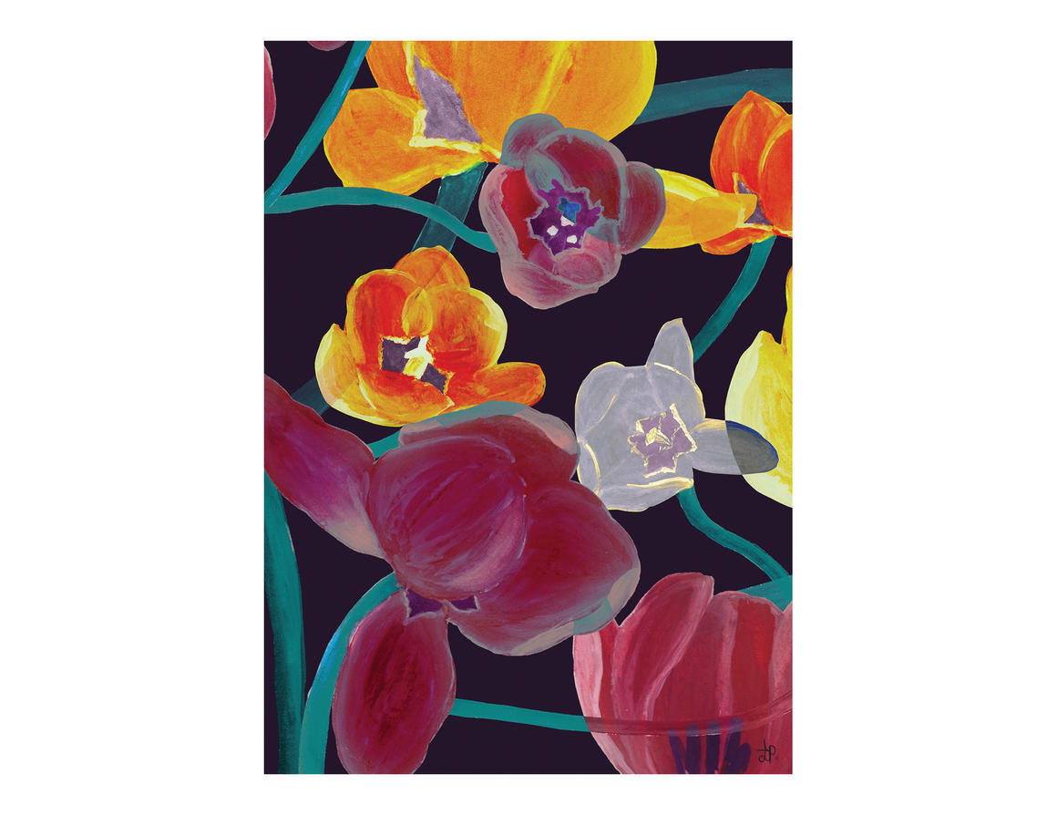 ATOMIC FLOWER Artisan A3 Wall Art Print | Trada Marketplace