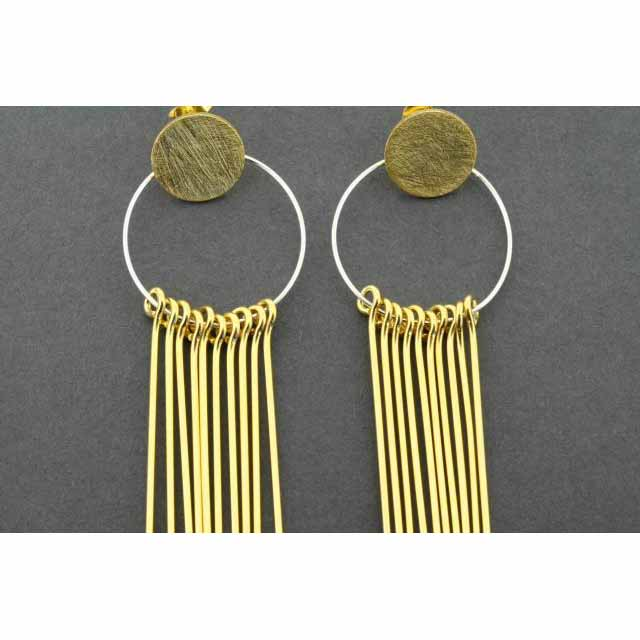 circle & 10 drop earring - gold plated | Trada Marketplace
