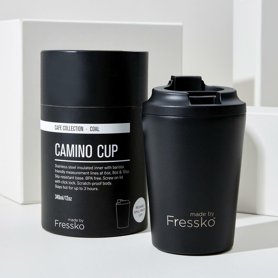 Fressko CAMINO 12oz  Stainless Steel Reusable Cup BLACK | Trada Marketplace