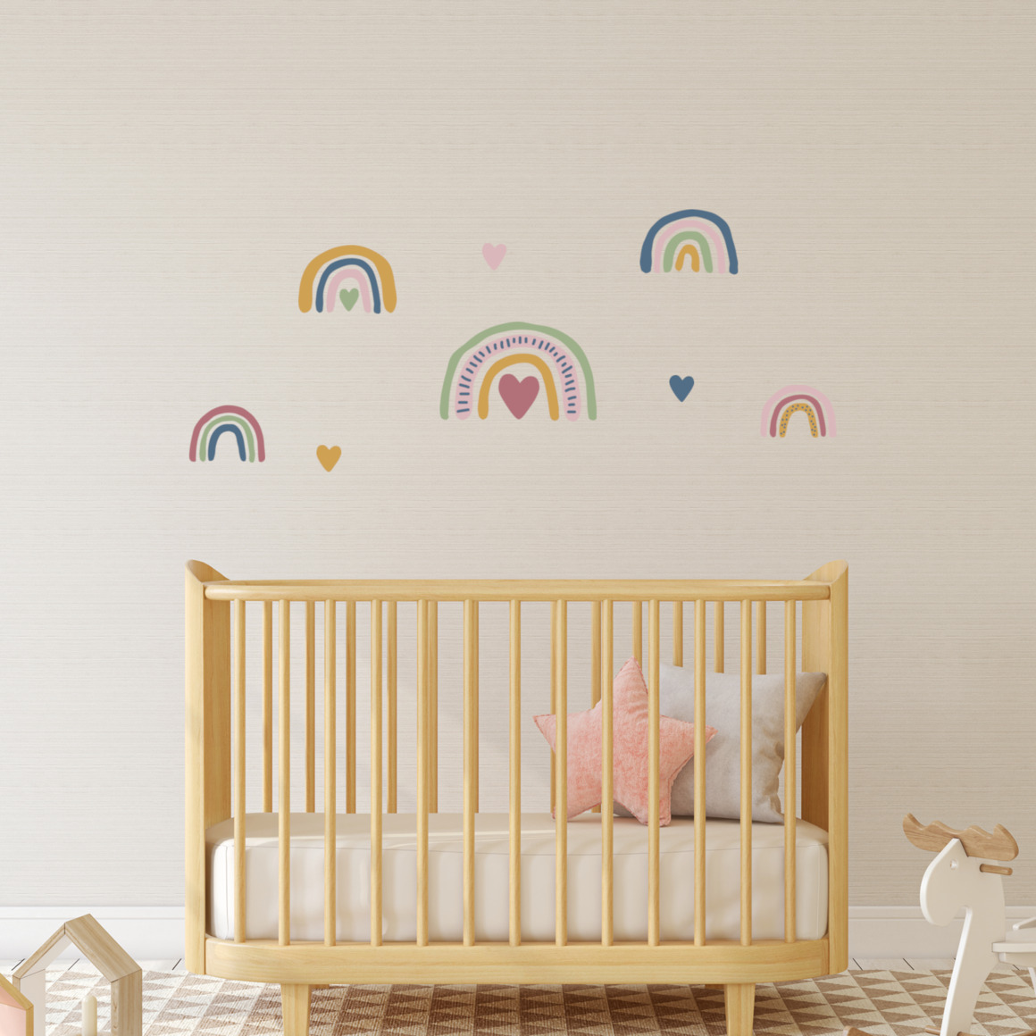 Fabric wall decals - Rainbows1   Trada Marketplace