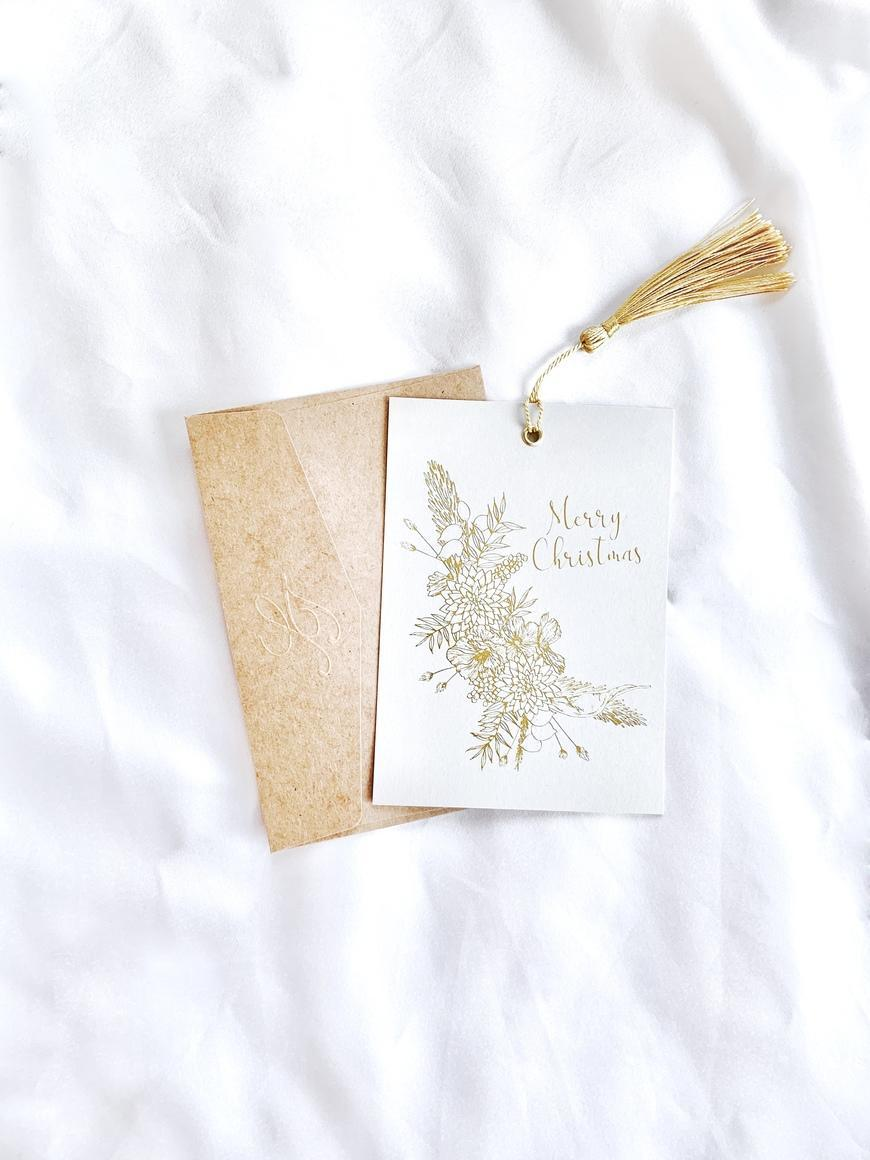 Christmas Hanging Card with Gold Tassel   Trada Marketplace