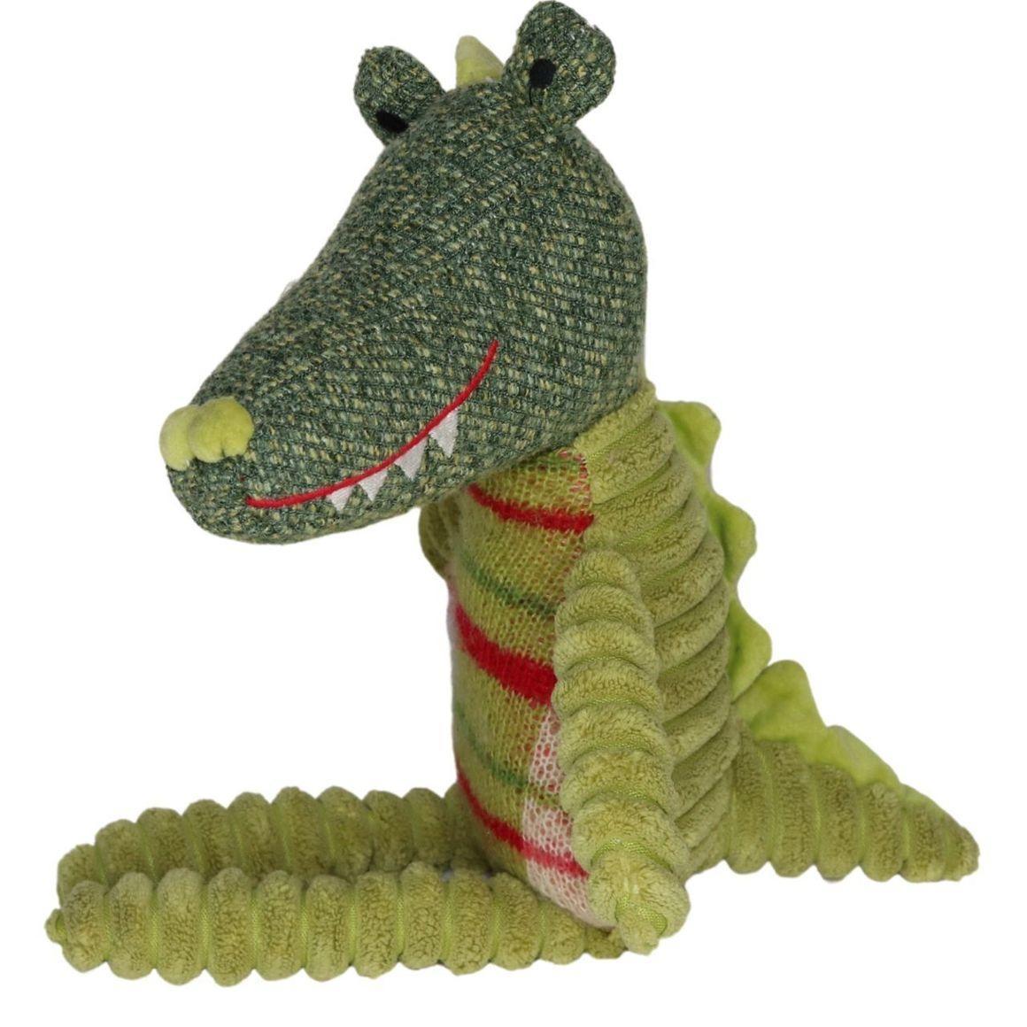 Plush Toy Crocodile - Plaid    Trada Marketplace