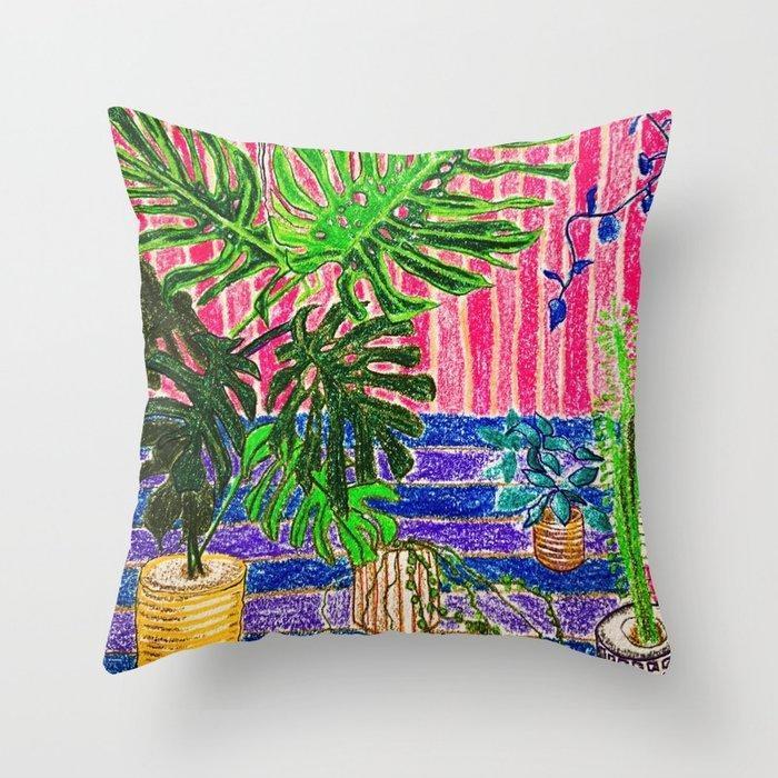 Indoor Jungle 7 Throw pillow  | Trada Marketplace
