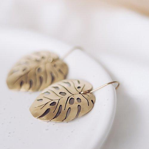 Energising Montsera Leaf Earrings | Trada Marketplace