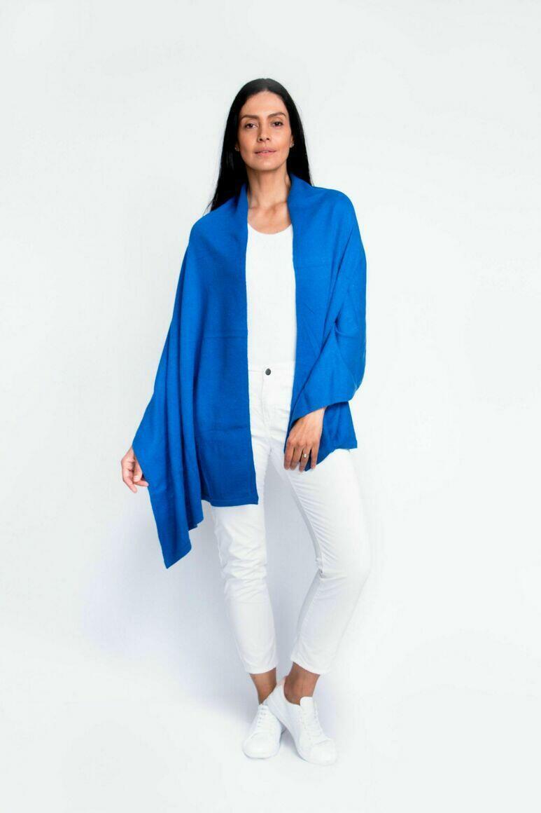 Cashmere Travel Wrap | Cobalt Blue | Trada Marketplace