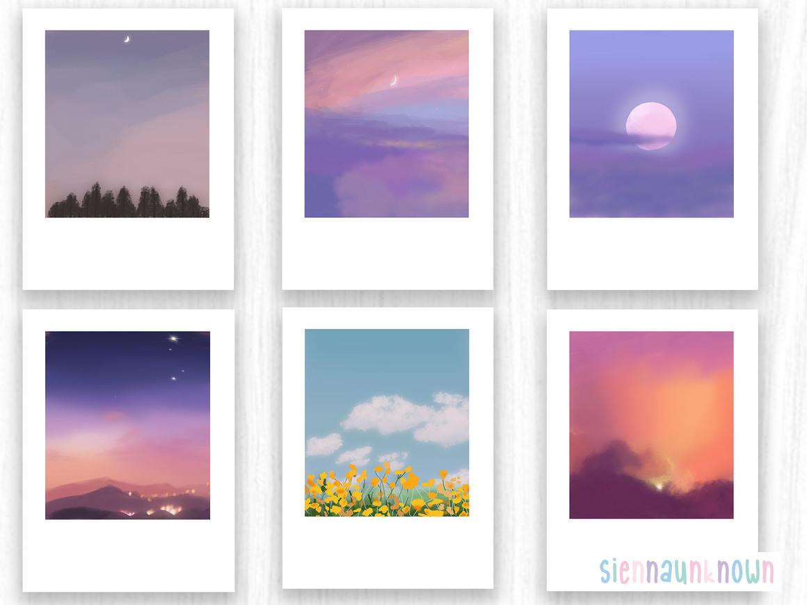 Aesthetic sky Art Prints & stickers | Trada Marketplace