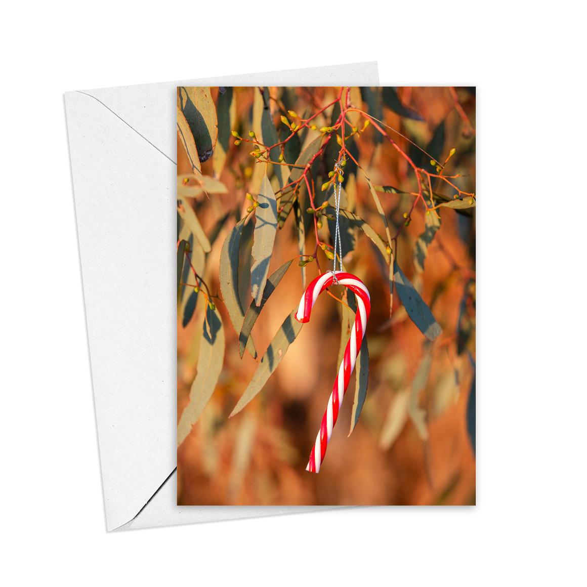 Christmas Candy Cane Greeting Card   Trada Marketplace
