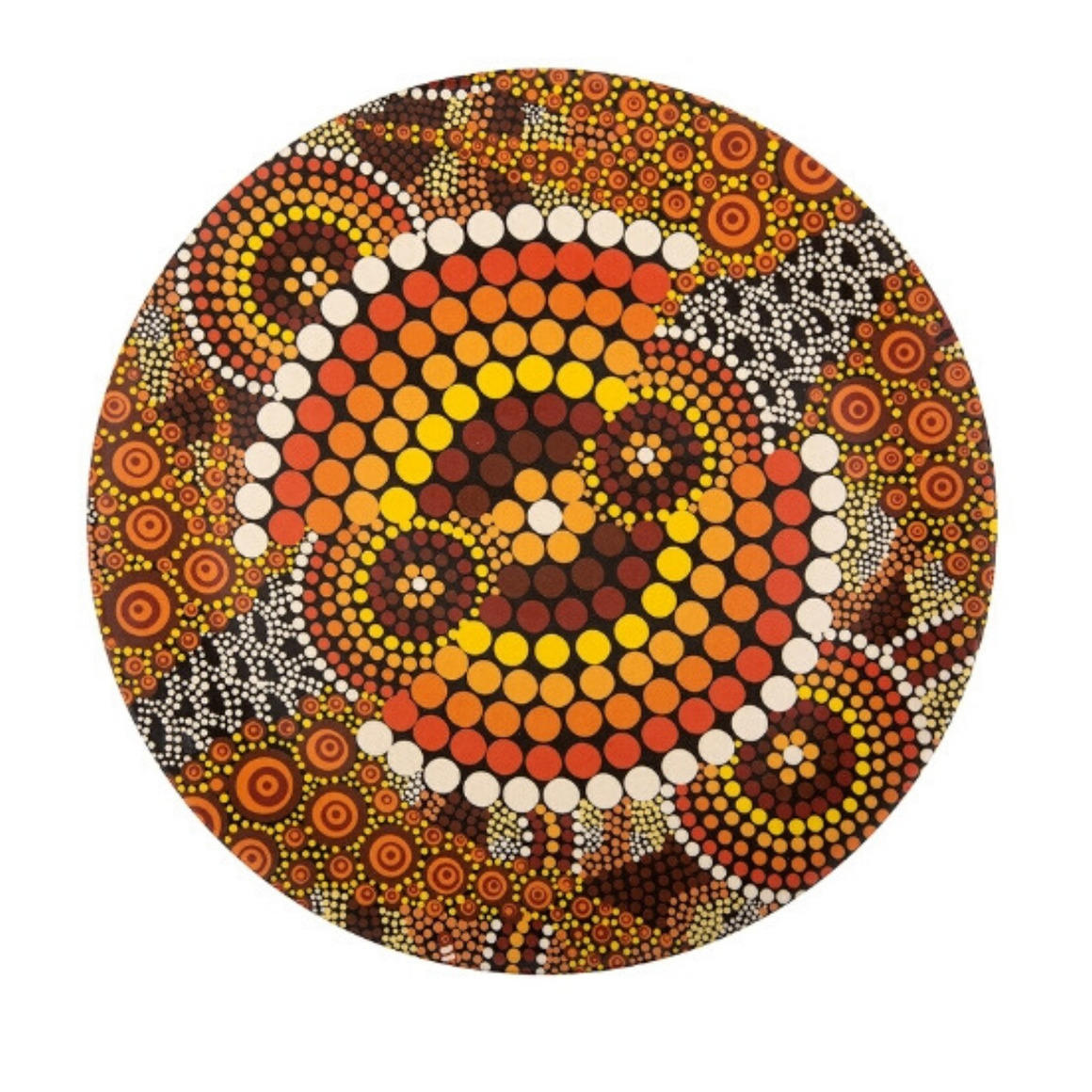 Plate Bamboo Aboriginal Design -  Colours of the Land Design - Colin Jones Set of 2   Trada Marketplace