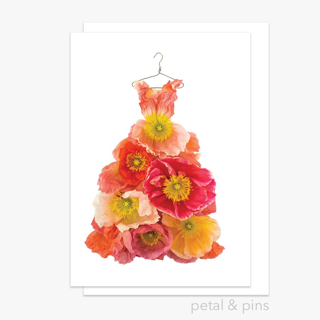 poppy dress greeting card | Trada Marketplace