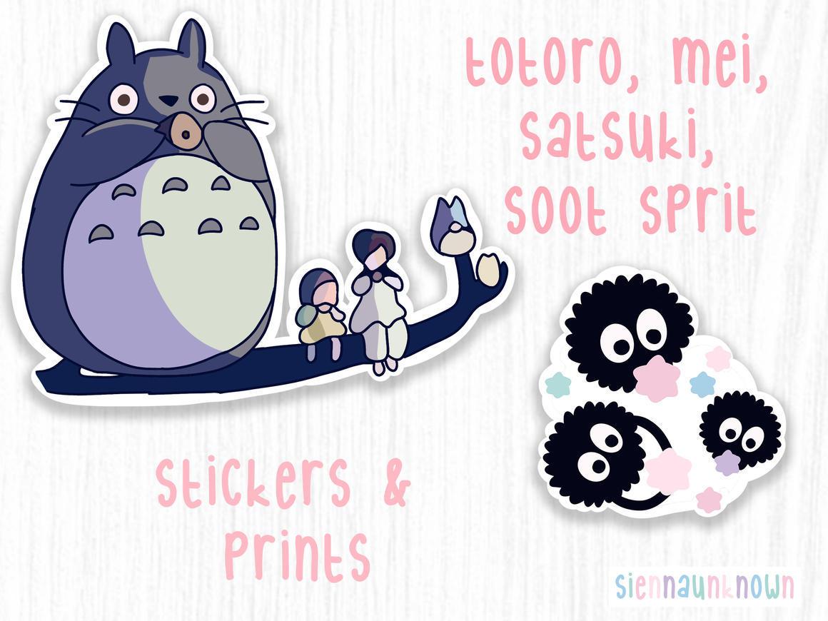 Totoro Studio Ghibli Art Print & sticker | Trada Marketplace