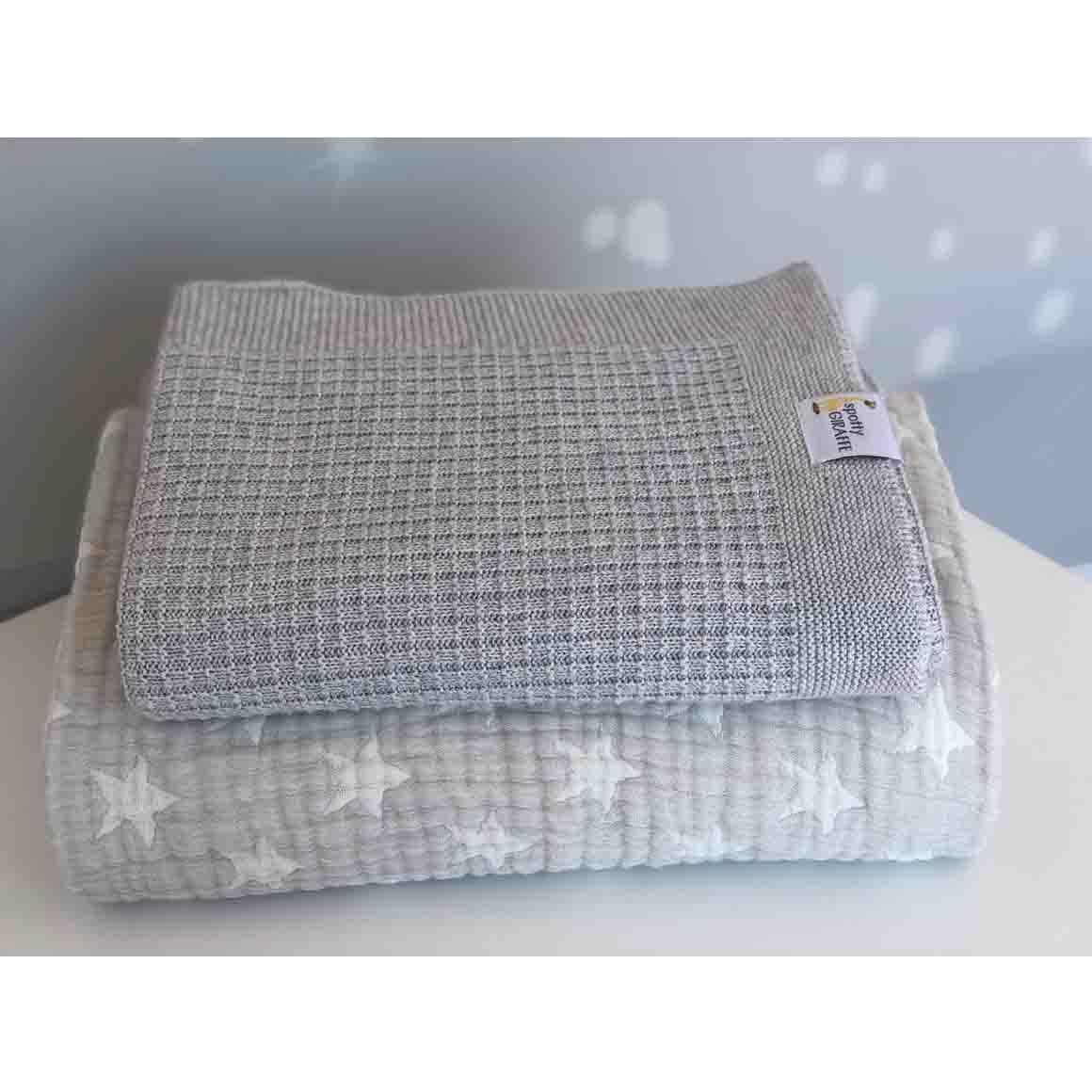 Spotty Giraffe Silk/Linen/Cotton Pram/Bassinette Blanket  | Trada Marketplace
