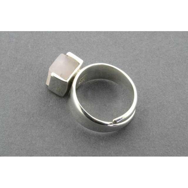 adjustable block ring - rosequartz | Trada Marketplace