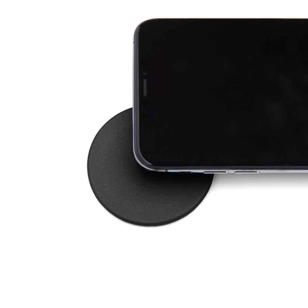 Moon Wireless Charging Pad Imitation Leather Black | Trada Marketplace