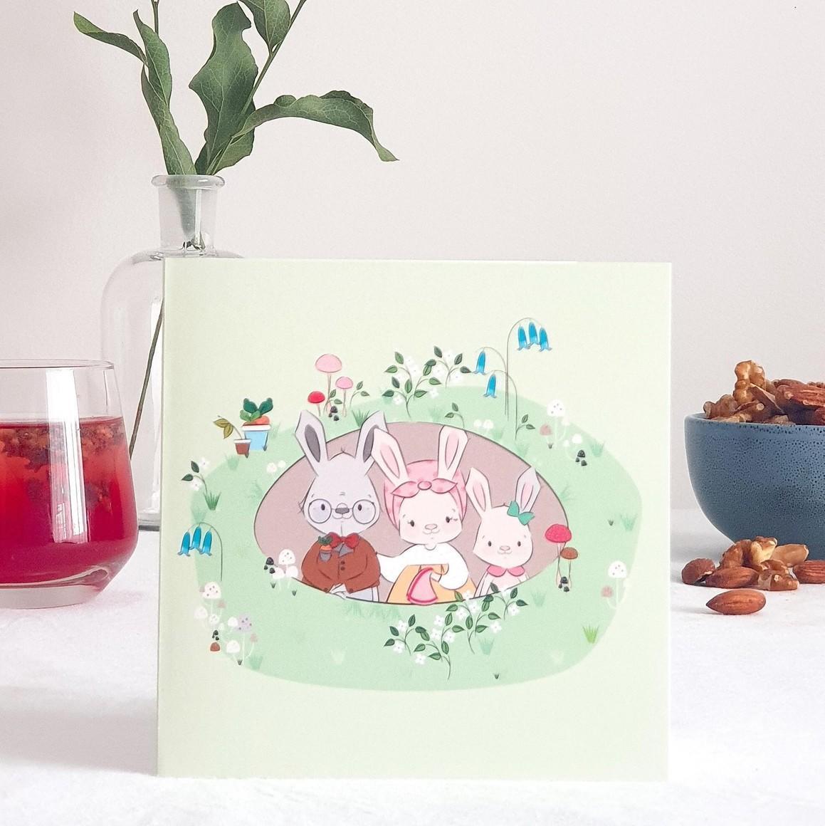 Home Burrow Greeting Card   Trada Marketplace