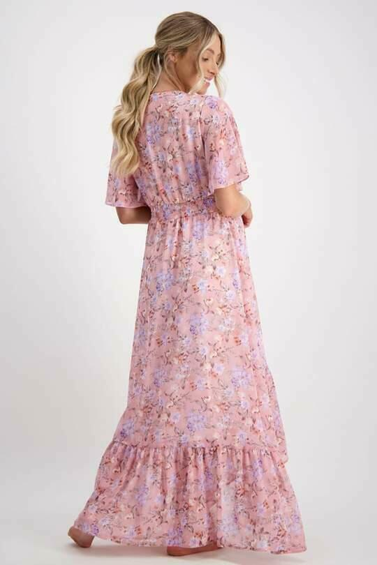 The Wanderer Floral Chiffon Maternity Gown | Trada Marketplace